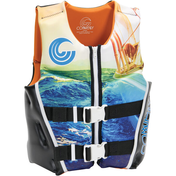 Connelly Youth Classic Neoprene Life Jacket, blue