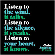 Quotable Cards Magnet, Listen To The Wind