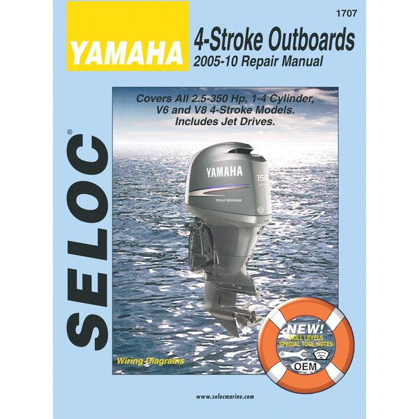 Seloc Marine Outboard Repair Manuals for Yamaha '05 - '10