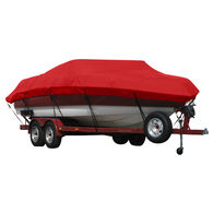 Exact Fit Covermate Sunbrella Boat Cover for Chris Craft Corsair 28 Corsair 28 Covers Bow Anchor I/O. Jockey Red
