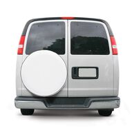 "Overdrive Custom Fit Spare Tire Cover - Tire diameter 21""-22"", Snow White"