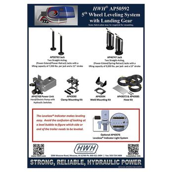 HWH BI-AXIS Hydraulic Leveling System, 5th Wheel