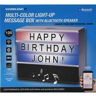 SoundLogic XT Light-Up Message Box with Bluetooth Speaker