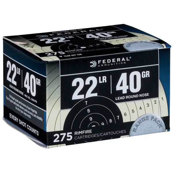 Federal Target Rimfire Ammunition, .22 LR, 40-gr., Lead Round Nose