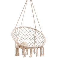 Macrame Chair Hammock - White