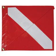 """Signal Flag Diver Down, 13"""" x 15"""""""