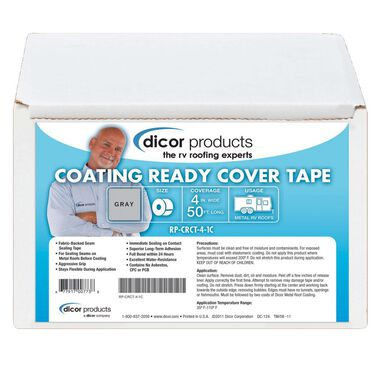 """Dicor Coating-Ready Cover Tape, 50'L x 4""""W"""