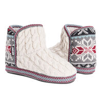 Muk Luks Women's Leigh Bootie Slipper, Vanilla