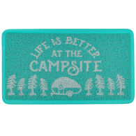 "Camco ""Life Is Better At The Campsite"" Scrub Rug, Teal"