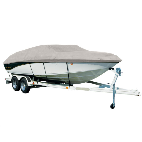 Covermate Sharkskin Plus Exact-Fit Cover for Tracker Party Barge 18 Signature Party Barge 18 Signature W/Bimini Laid Aft O/B