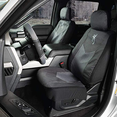 Browning Low-Back Seat Cover, Heather Black
