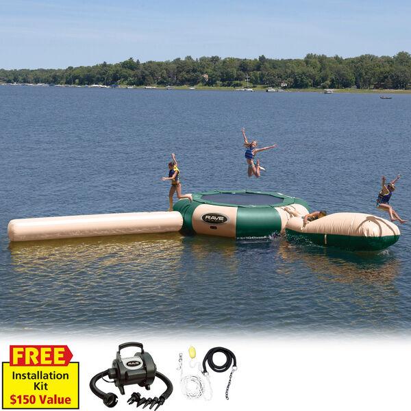 RAVE 15' Aqua Jump Eclipse 150 Water Park, Northwoods Edition
