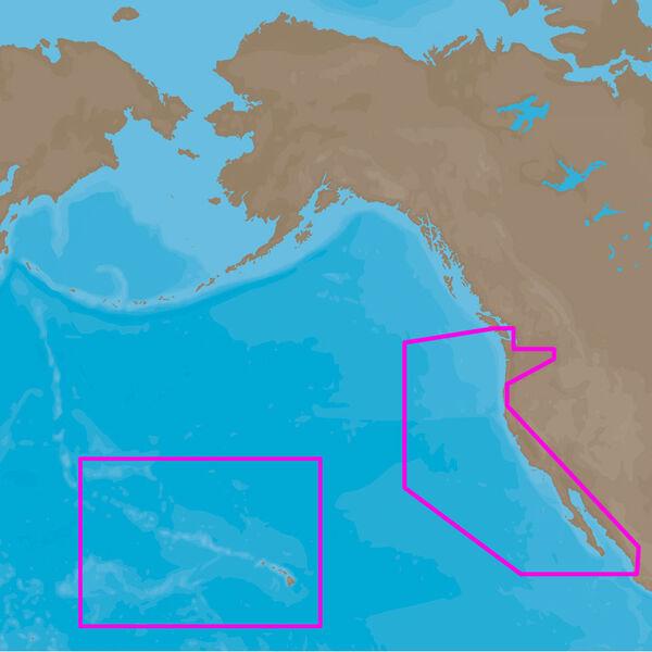 C-MAP Full 4D MAX, US West Coast And Hawaii