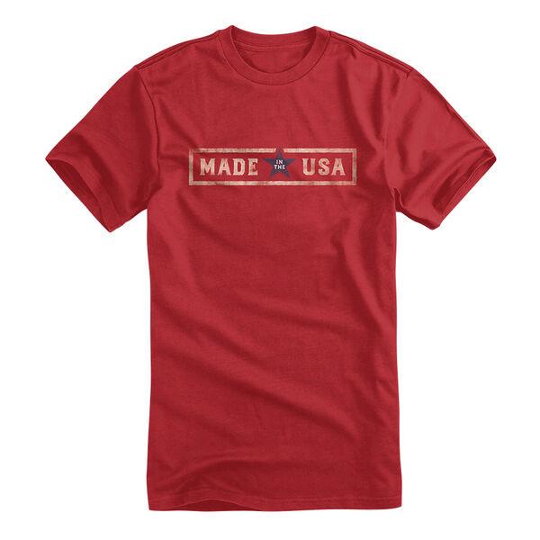 Bayside Men's Brick MIUSA Short-Sleeve Tee