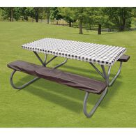 Brown Check Tablecloth & Seat Cover Set