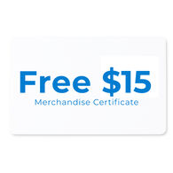 Free $15.00 Merchandise Certificate