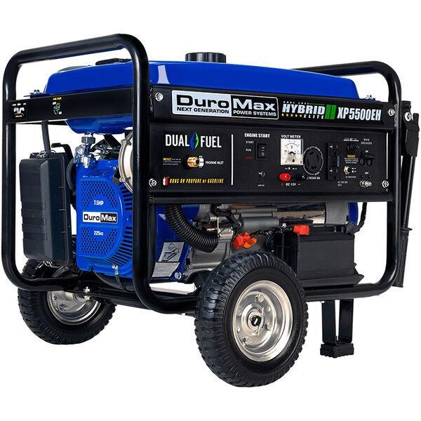DuroMax Dual Fuel 5,500-Watt Electric Start Generator