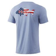 HUK Fish Flag Americana Tee Shirt