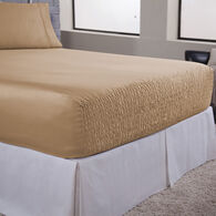 Bed Tite 500 Thread Count Cotton/Poly Blend Queen/RV Queen Sheet Set, Fawn
