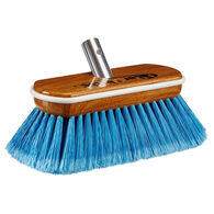 Star brite Premium Medium-Wash Brush (Blue) - Synthetic Wood Block with Bumper