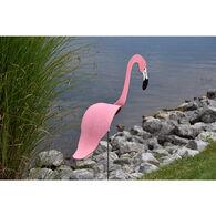 Pink and Aqua Flamingo Lawn Ornament Set