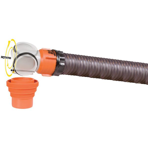 RhinoFLEX Swivel Elbow Fitting with 4-in-1 Adapter