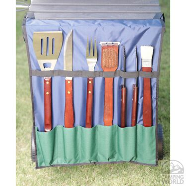 No Tipper Topper Kit with Matching BBQ Utensil Bag, Green