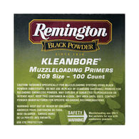 Remington Kleanbore 209 Muzzleloading Primers, 100-count