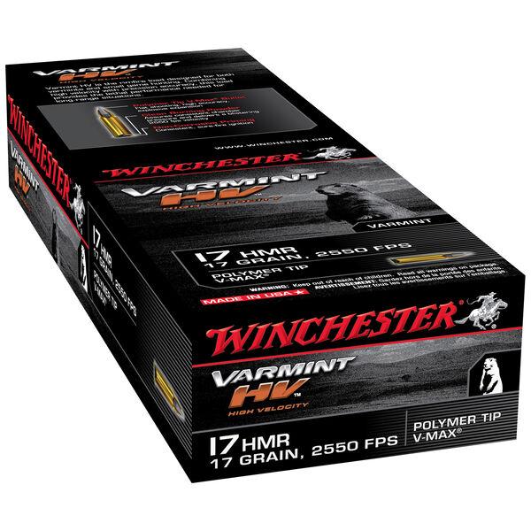 Winchester Varmint HV Ammo, .17 HMR, 17 Grain, V-Max