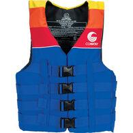 Connelly Men's 4-Belt Retro Nylon Vest - Blue/Yellow/Red - S
