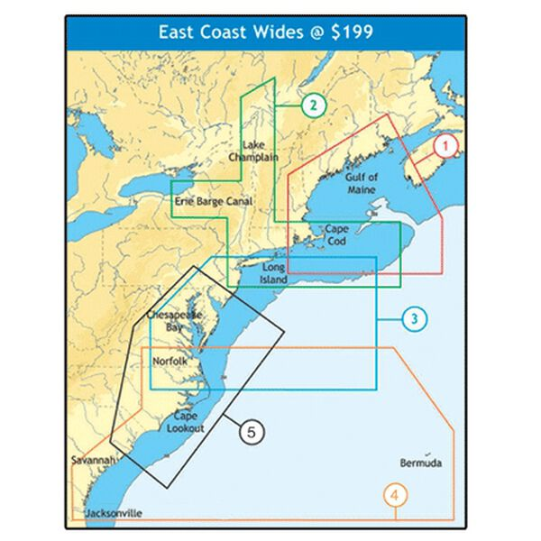 C-MAP NT+ Wide Map, Cape May To Winyah Bay, C310