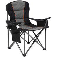Oversized XL Padded Folding Chair, Black and Gray