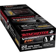 Winchester Varmint HV Rimfire Ammo, .22 Win Mag, 30-gr., JHP