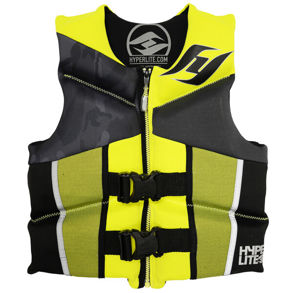 Hyperlite Pro V Youth Life Jacket, Yellow