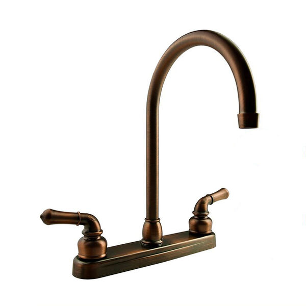 Dura Faucet J-Spout Kitchen Faucet, Oil-Rubbed Bronze