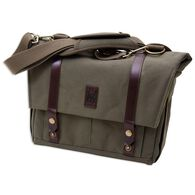 Canvas & Leather Messenger Bag, Green
