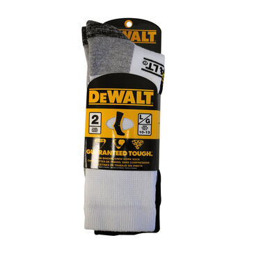 DeWalt Men's Non-Binding Crew Work Sock
