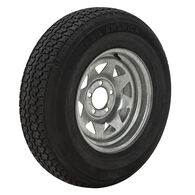 Trail America 225/75 x 15 Bias Trailer Tire, 5-Lug Spoke Galvanized Rim