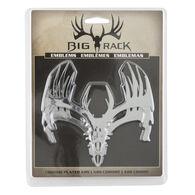 Big Rack Whitetail Skull Emblems, 2-Pack