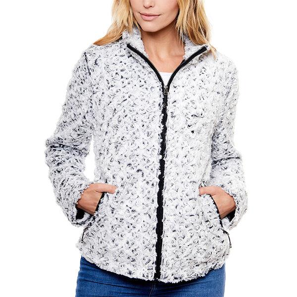 Be Boundless Women's Cozy Vortex Faux-Fur Jacket