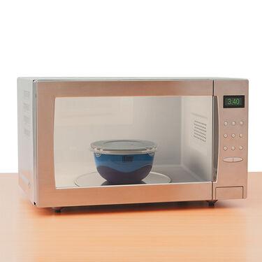 Robert Irvine 8-Piece Microwave-Safe Prep Bowl and Lid Set, Blue