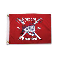 Pirate Heads Prepare To Be Boarded Boat Flag