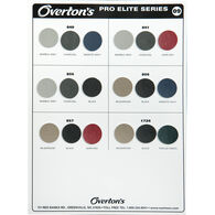 Overton's Pro Elite Boat Seat Vinyl Sample Card