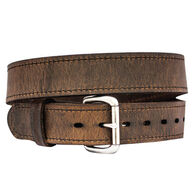Versacarry Double Ply Leather Belt, Distressed Brown