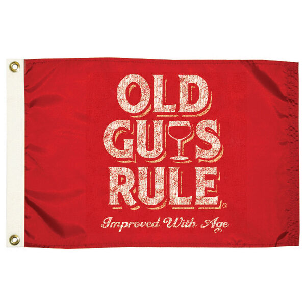 Old Guys Rule Flag, Improved With Age