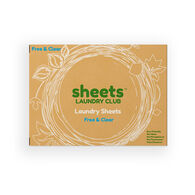 Sheets Laundry Club Laundry Detergent Sheets, Free & Clear Unscented, 50 Sheets