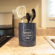 """Adventure Never Ends"" Tin Utensil Holder"