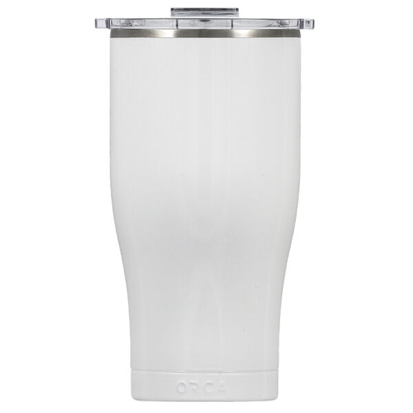 Orca Chaser 27-oz. Tumbler w/Clear Lid, Pearl White