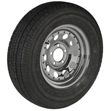 Goodyear Endurance ST215/75 R 14 Radial Trailer Tire, 5-Lug Chrome Modular Rim