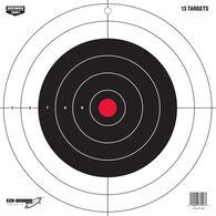 """Birchwood Casey EZE-Scorer 12"""" Round Bullseye Paper Targets, 13-Pack"""